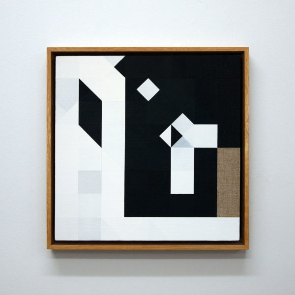 Chess Painting No. 2 (Duchamp vs. Crépeaux, Nice, 1925)32 x 32 cm | gesso on linen, oak frame | 2009