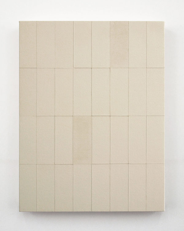 Ground No. 5 (Vertical Array)  45 x 35 cm | gesso on canvas | 2012