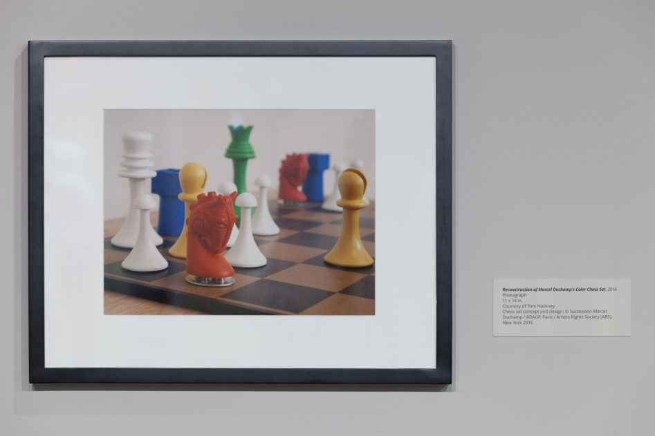 Corresponding Squares: Painting the Chess Games of Marcel Duchampreconstruction of Duchamp's colour chess set[photo © Austin Fuller courtesy of the World Chess Hall of Fame]