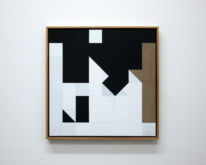 Chess Painting No. 6 (Duchamp vs. Schroeder, New York City, 1922)42 x 42 cm | gesso on linen, oak frame | 2011