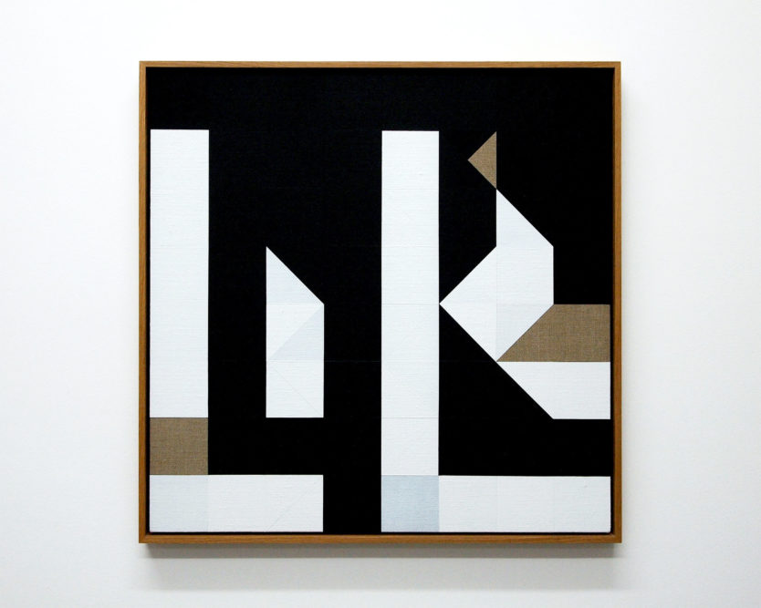 Chess Painting No. 66 (Duchamp vs. Lilienthal, Folkestone, 1933)66 x 66 cm | gesso on linen, oak frame | 2015