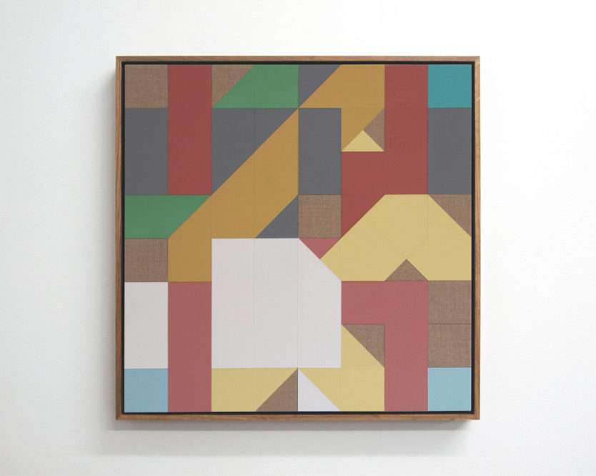 Chess Painting No. 122 (Piatigorsky vs. Duchamp, correspondence game, 1961) 48 x 48 cm | gesso & primers on linen, oak frame | 2018