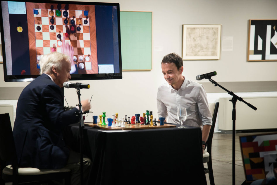 Francis Naumann & Tom Hackney  Photo © Austin Fuller   Courtesy of the World Chess Hall of Fame
