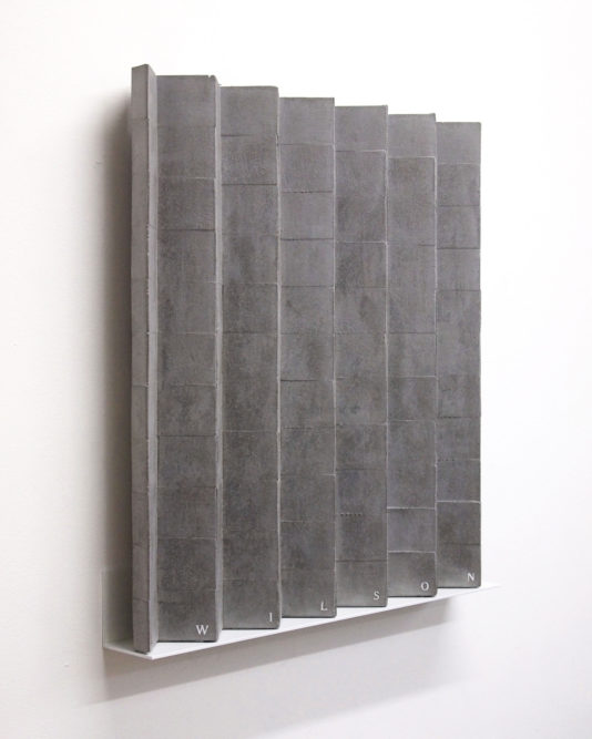 LINCOLN / WILSON60 x 55 x 7 cm | cast concrete mounted on aluminium shelf | 2016private collection