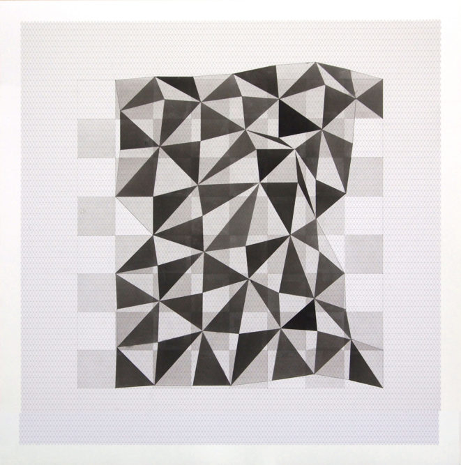 Projection # 359 x 59 cm | Indian ink on graph paper | 2012private collection