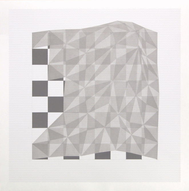 Projection # 759 x 59 cm | Indian ink on graph paper | 2012private collection