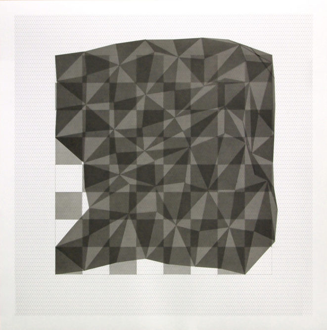 Projection # 659 x 59 cm | Indian ink on graph paper | 2012private collection