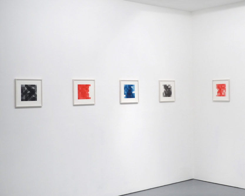 Notation Drawings installation view, from CROSS SECTION/04[photo courtesy of dalla Rosa Gallery, London]